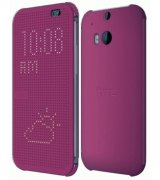 Чехол для HTC One (M8) Dot View Cover HC M100 Purple