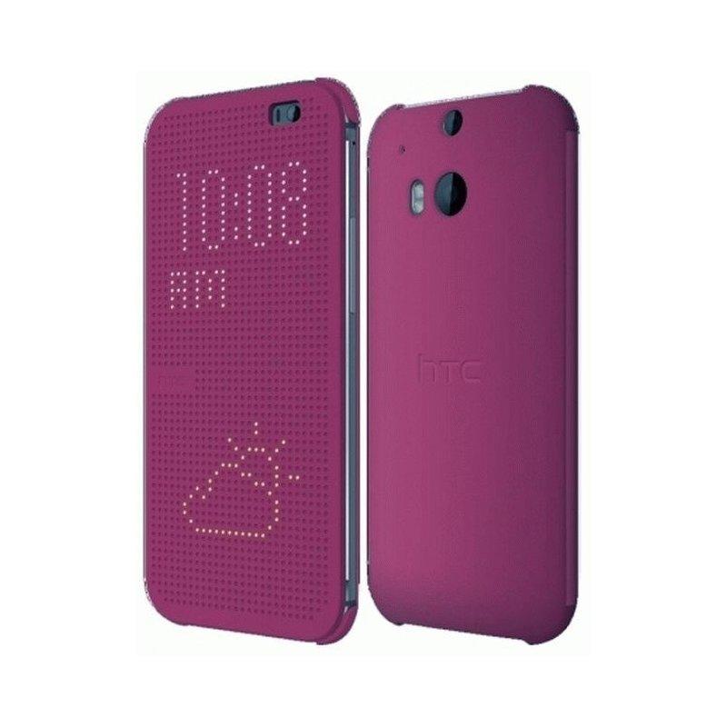Оригинальный чехол для HTC One (M8) Dot View Cover HC M100 Purple