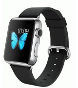 Apple Watch 38mm Stainless Steel Case with Black Classic Buckle (MJ312)