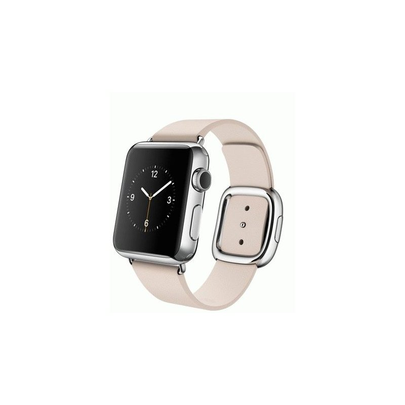 Apple Watch 38mm Stainless Steel Case with Soft Pink Modern Buckle Size L (MJ392LL/A)