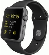 Apple Watch Sport 42mm Space Gray Aluminum Case with Black Sport Band (MJ3T2)