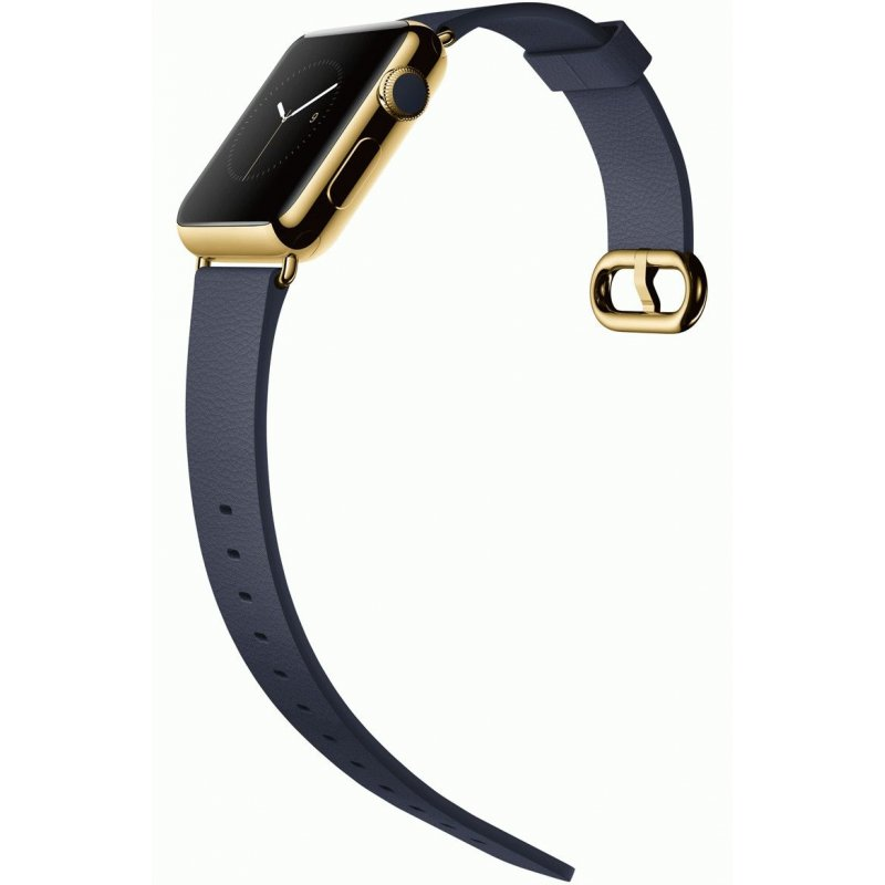 Apple Watch Edition42mm 18-Karat Yellow Gold Case with Midnight Blue Classic Buckle