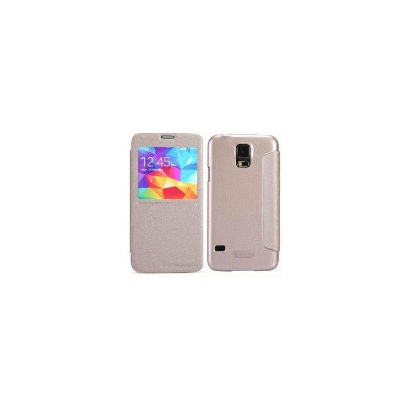 Кожаный чехол Nillkin Fresh для Samsung Galaxy S5 Gold