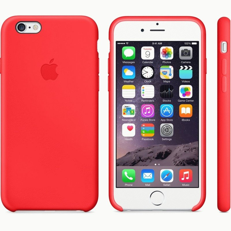 Чехол Apple iPhone 6 Silicone Case Red (MGQH2)