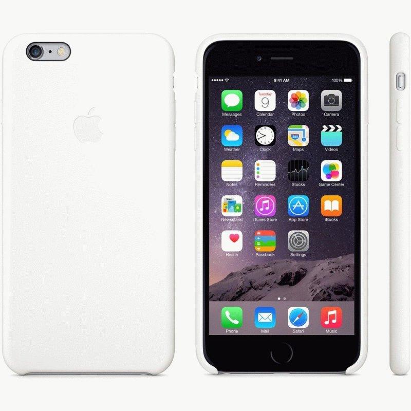 Чехол Apple iPhone 6 Plus Silicone Case White (MGRF2)