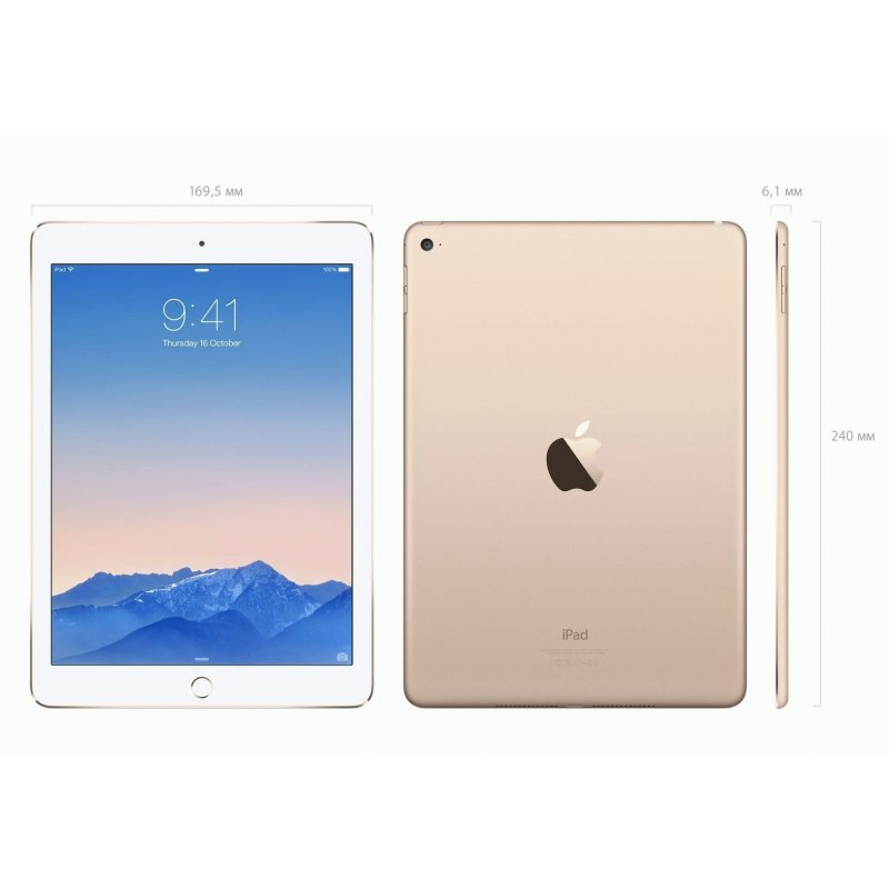 iPad Air 2 64GB Wi‑Fi + 4G Gold