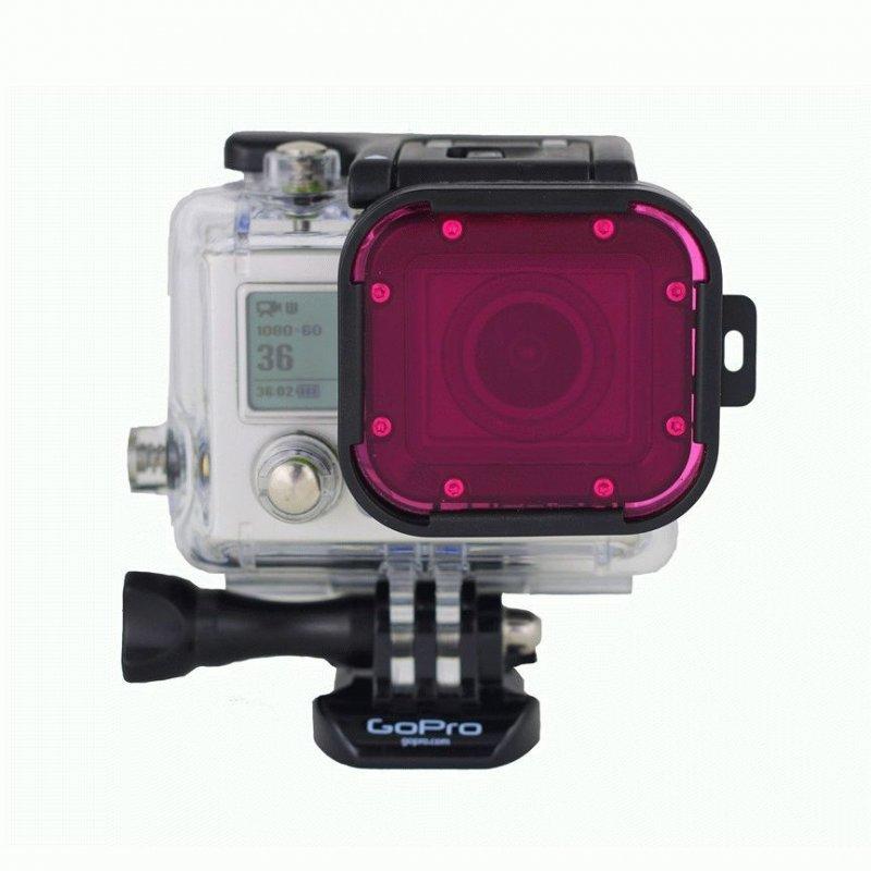 Cветофильтр Hero3 Aqua Magenta Filter для GoPro (P1010)