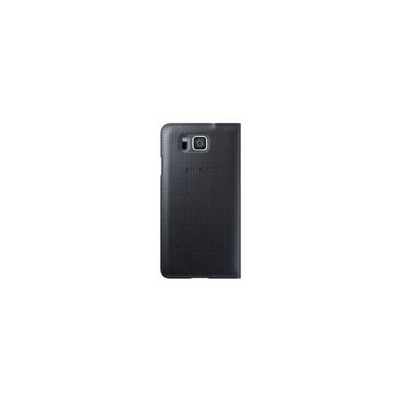 Оригинальный чехол S View для Samsung G850F Galaxy Alpha Black (EF-CG850BBEGRU)