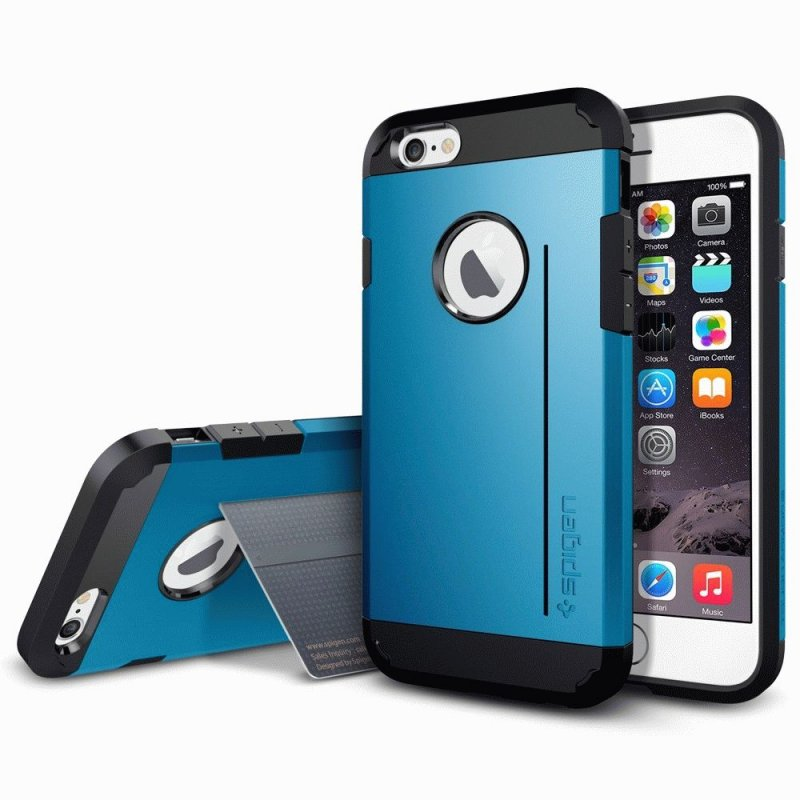 SGP iPhone 6 Case Tough Armor S Electric Blue (SGP11041)