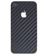 Carbon Fiber виниловый скин-наклейка для iPhone 4/4s Black