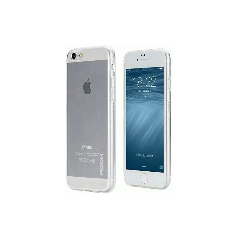TPU накладка Rock Slim Jacket для Apple iPhone 6 Clear