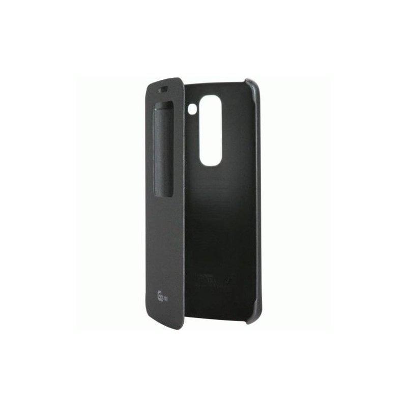 Оригинальный чехол QuickWindow для LG G2 Mini D618 Black (CCF-370AGEUTB)