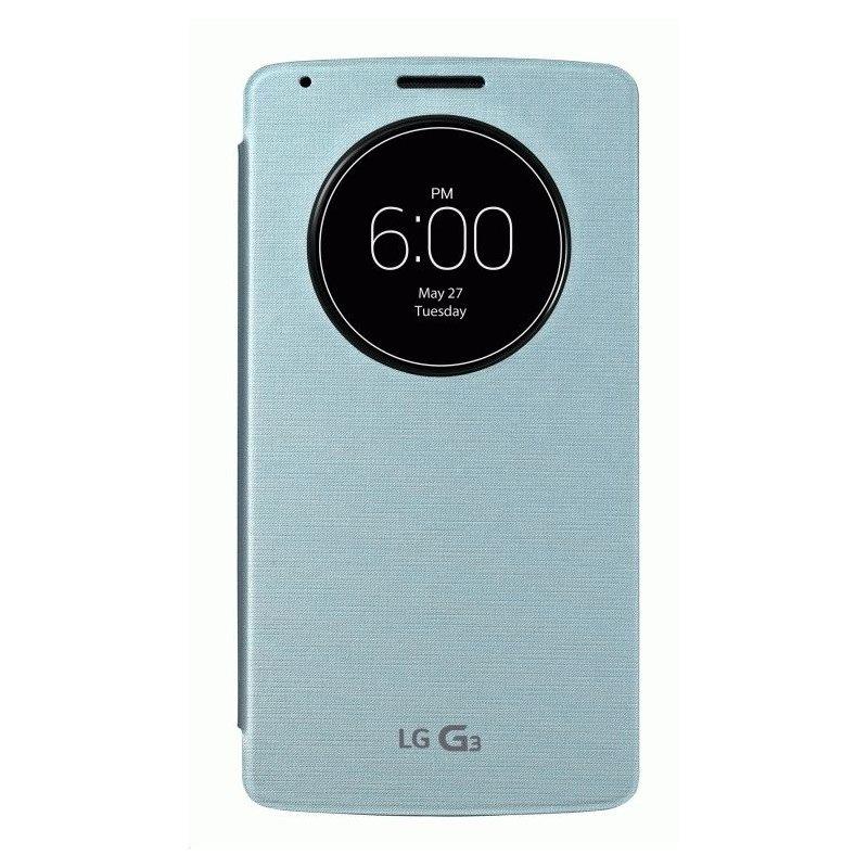 Оригинальный чехол QuickCircle для LG G3 D855 Aqua (CCF-345G.AGEUAQ)