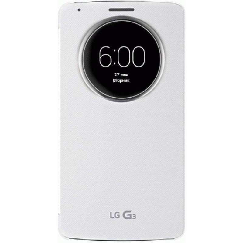 Оригинальный чехол QuickCircle для LG G3 D855 White (ССF-340G.AGEUWH)