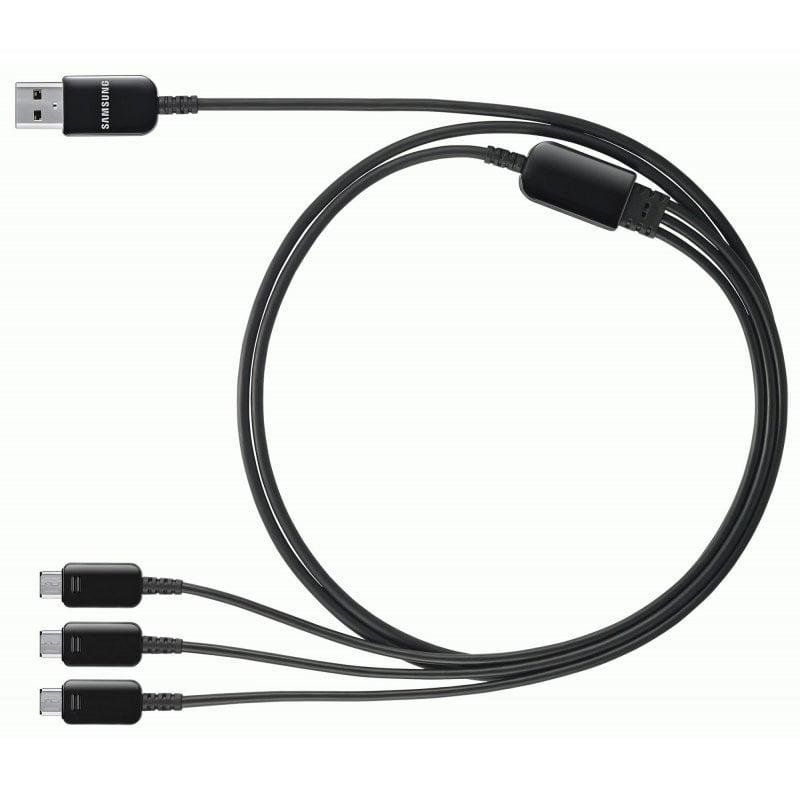 USB кабель с коннектором на 3 устройства для мультизарядки Samsung Galaxy S5 G900 Black (ET-TG900UBEGRU)