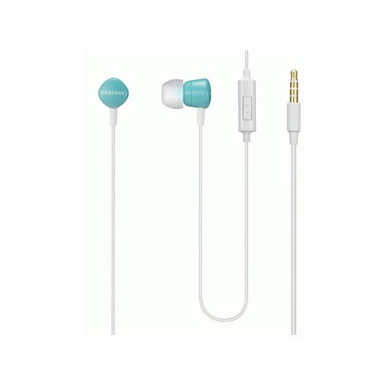 Оригинальные наушники-гарнитура Samsung White-Blue (EHS62ASNKECSTD)