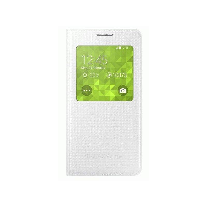 Оригинальный чехол S View для Samsung G850F Galaxy Alpha White (EF-CG850BWEGRU)