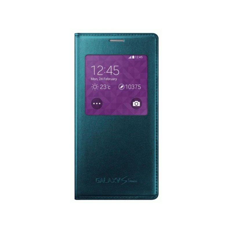 Оригинальный чехол S Cover View для Samsung G800H Galaxy S5 Mini Duos Green (EF-CG800BGEGRU)