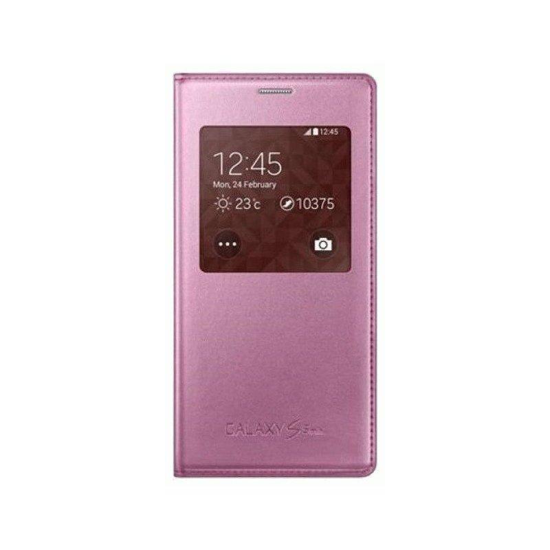 Оригинальный чехол S Cover View для Samsung G800H Galaxy S5 Mini Duos Pink (EF-CG800BPEGRU)