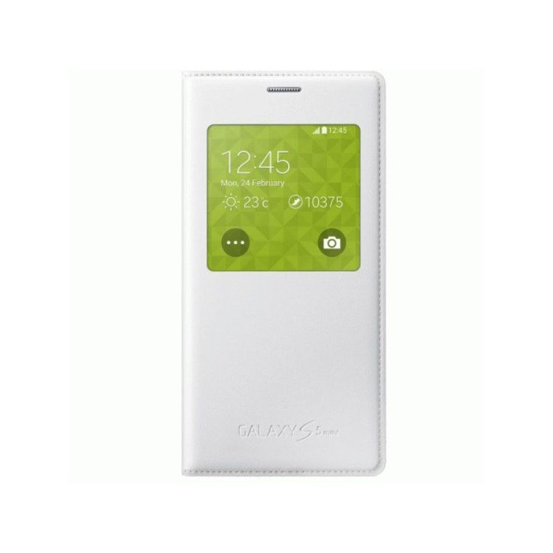 Оригинальный чехол S Cover View для Samsung G800H Galaxy S5 Mini Duos White (EF-CG800BWEGRU)