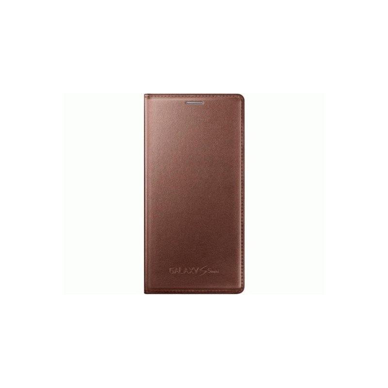 Оригинальный чехол Flip Cover для Samsung G800H Galaxy S5 Mini Duos Rose Gold (EF-FG800BFEGRU)