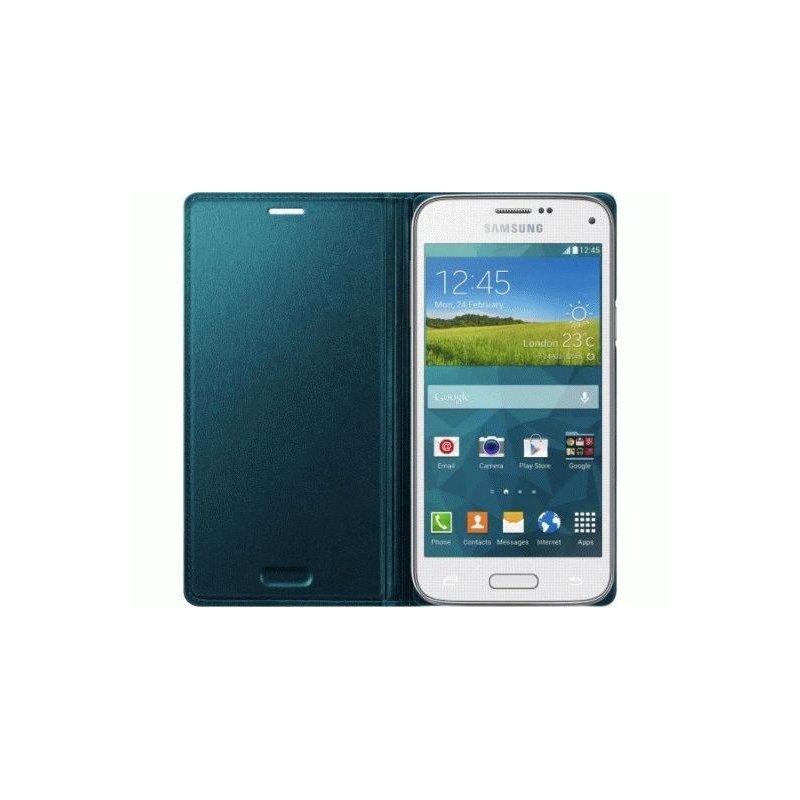 Оригинальный чехол Flip Cover для Samsung G800H Galaxy S5 Mini Duos Green (EF-FG800BGEGRU)