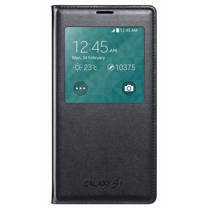 Оригинальный чехол S View для Samsung Galaxy S5 G900 Black (EF-CG900BBEGRU)
