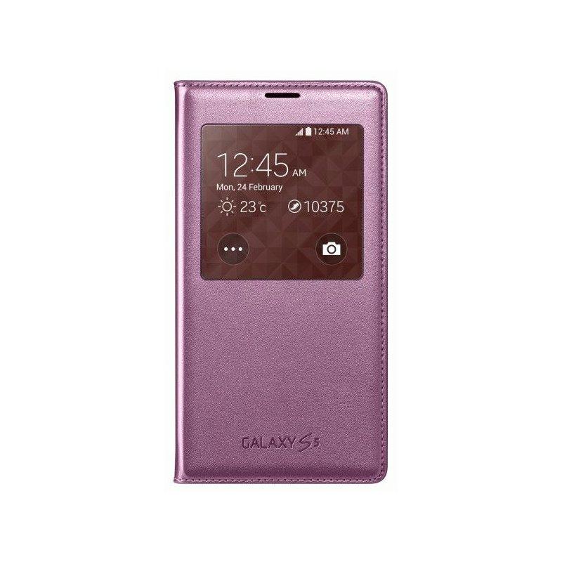 Оригинальный чехол S View для Samsung Galaxy S5 G900 Pink (EF-CG900BPEGRU)