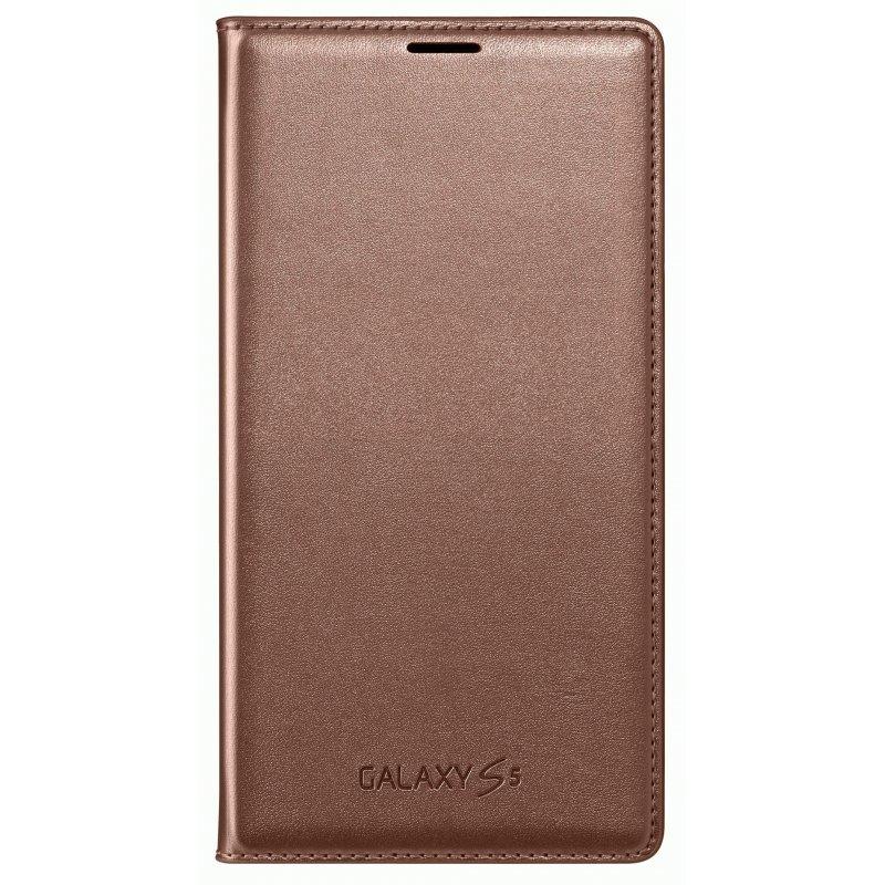 Оригинальный чехол  Flip Wallet для Samsung Galaxy S5 G900 Roze Gold (EF-WG900BFEGRU)