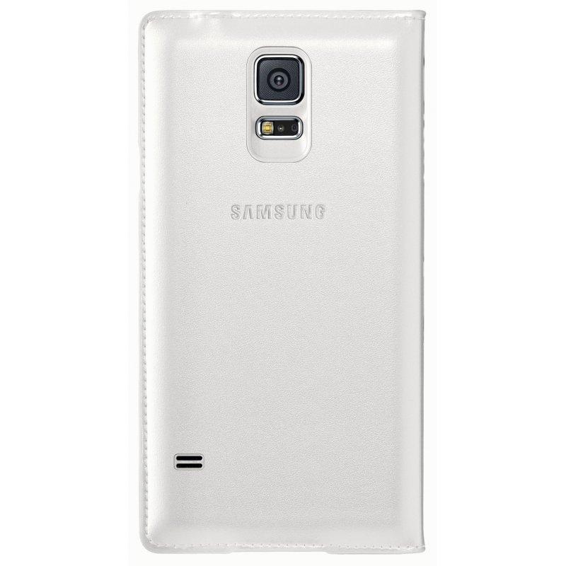 Оригинальный чехол  Flip Wallet для Samsung Galaxy S5 G900 White (EF-WG900BWEGRU)