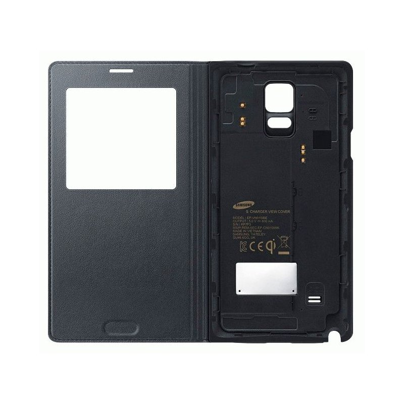 Оригинальный чехол S Charger Cover для Samsung Galaxy Note 4 N910H Charcoal (EP-VN910IBRGRU)