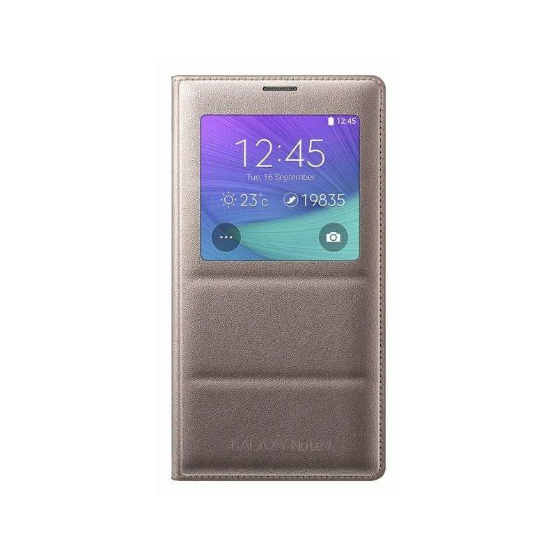 Оригинальный чехол S View для Samsung Galaxy Note 4 N910H Golden Camel (EF-CN910BEEGRU)