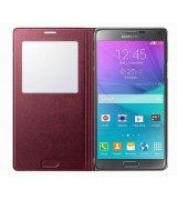 Чехол S View для Samsung Galaxy Note 4 N910H Electronic Plum (EF-CN910BREGRU)