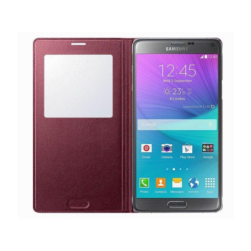 Оригинальный чехол S View для Samsung Galaxy Note 4 N910H Electronic Plum (EF-CN910BREGRU)