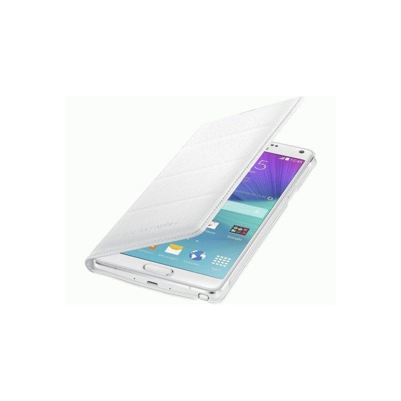 Оригинальный чехол Flip Wallet для Samsung Galaxy Note 4 N910H White (EF-WN910FTEGRU)