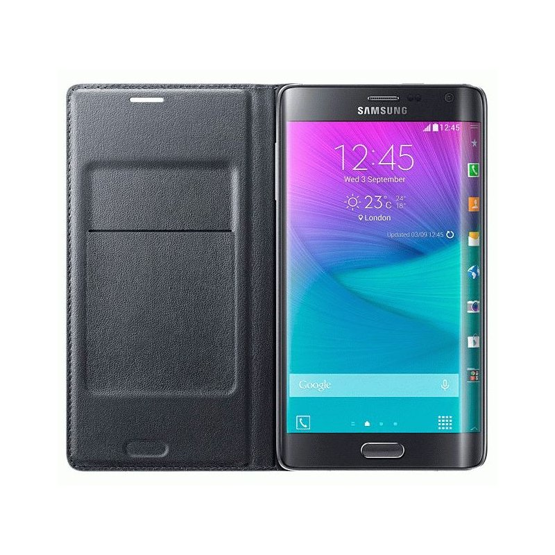 Оригинальный чехол Flip Wallet для Samsung Galaxy Note Edge N915F Charcoal (EF-WN915BCEGRU)