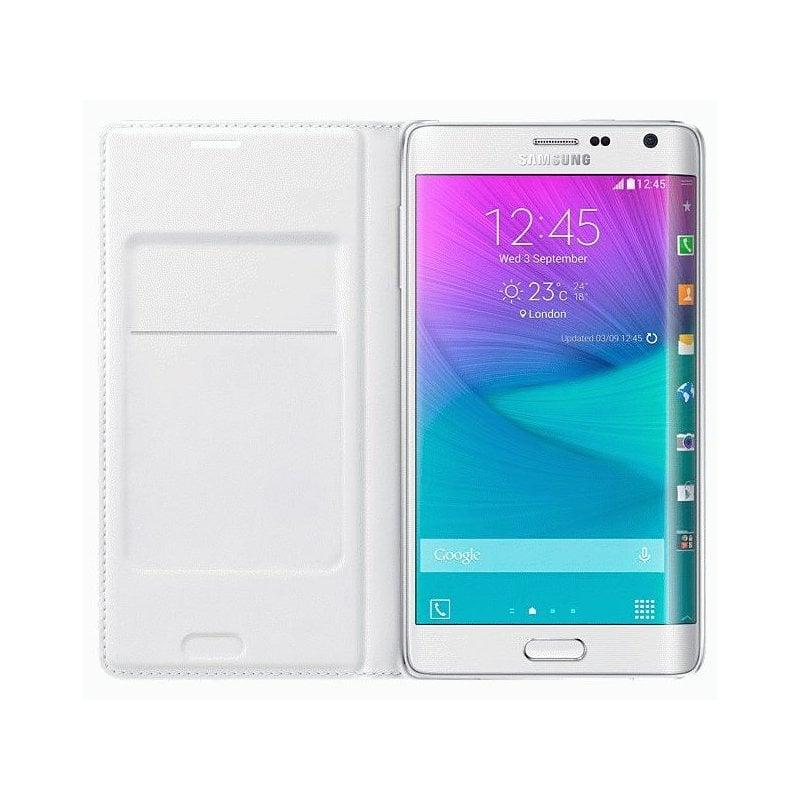 Оригинальный чехол Flip Wallet для Samsung Galaxy Note Edge N915F White (EF-WN915BWEGRU)