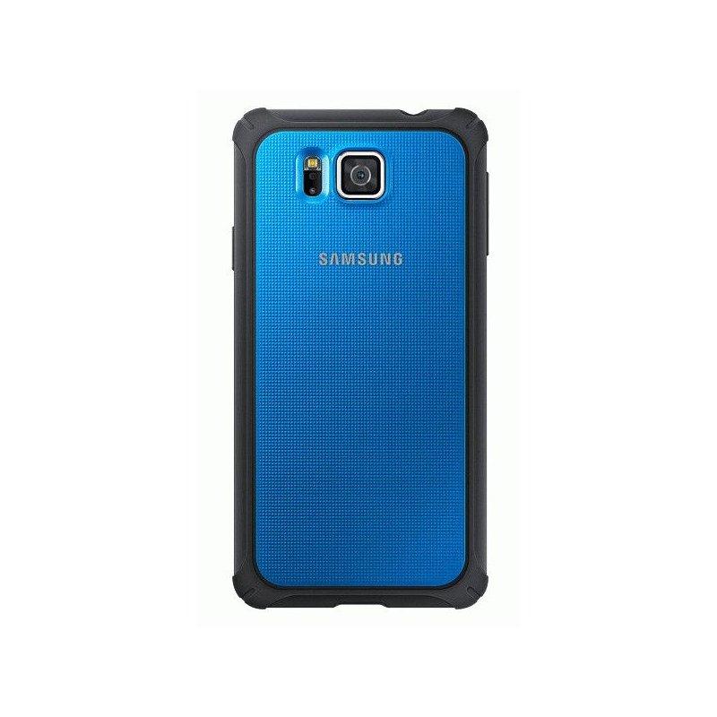 Оригинальный чехол Protective Cover для Samsung G850F Galaxy Alpha Blue (EF-PG850BLEGRU)