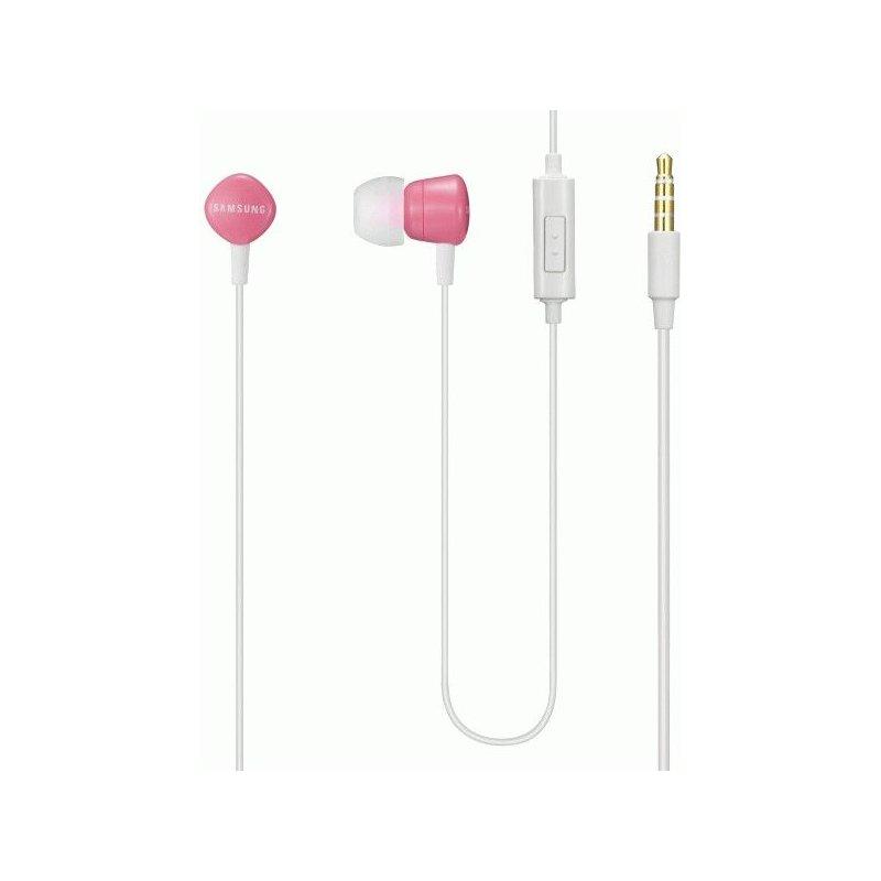 Оригинальные наушники-гарнитура Samsung White-Pink (EHS62ASNPECSTD)