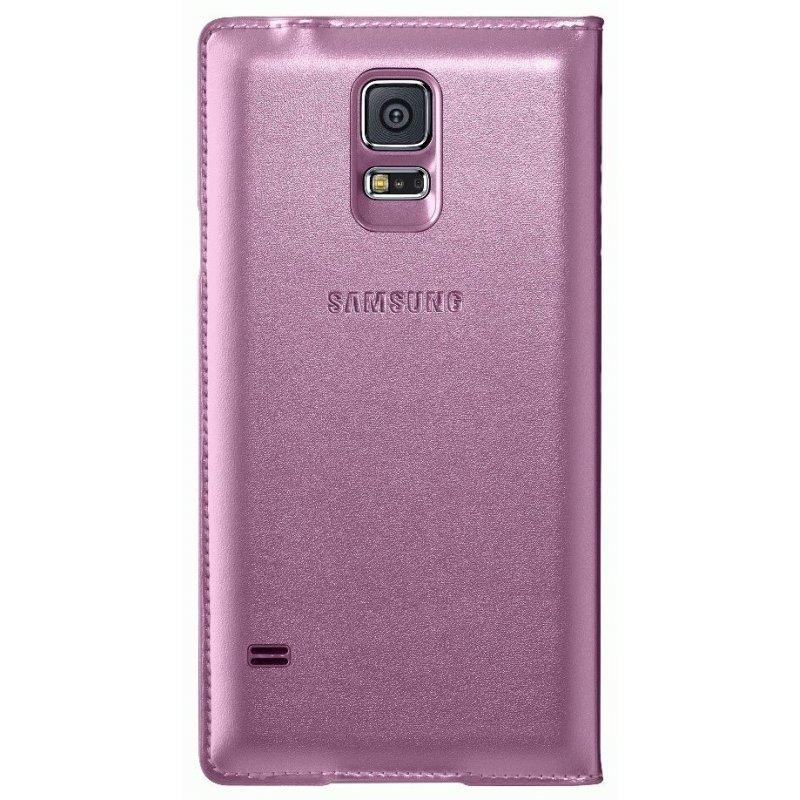 Оригинальный чехол Flip Wallet для Samsung Galaxy S5 G900 Pink (EF-WG900BPEGRU)