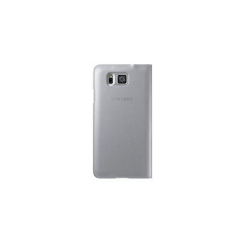 Оригинальный чехол S View для Samsung G850F Galaxy Alpha Silver (EF-CG850BSEGRU)