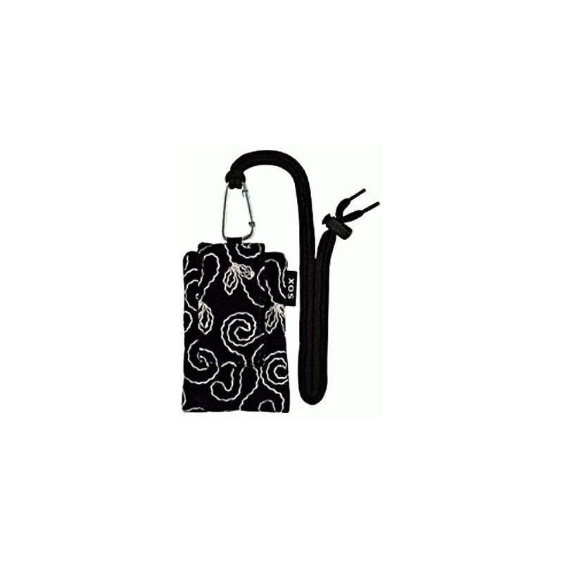 Универсальный чехол для телефона SOX Silk Velvet Embroidery 2 Black (KAH2 01)