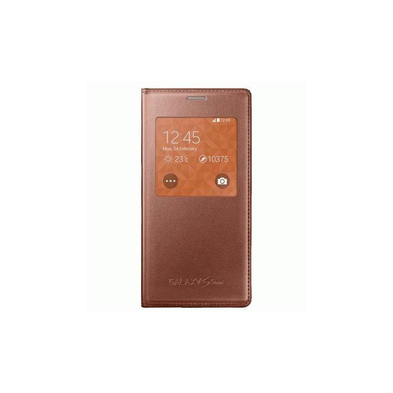 Оригинальный чехол S Cover View для Samsung G800H Galaxy S5 Mini Duos Rose Gold (EF-CG800BFEGRU)