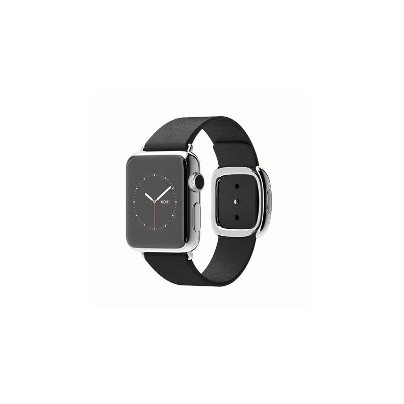 Apple Watch 38mm Stainless Steel Case with Black Modern Buckle Size M (MJYL2LL/A)