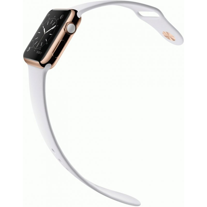 Apple Watch Edition 42mm Rose Gold Case with White Sport Band