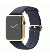 Apple Watch Edition 42mm 18-Karat Yellow Gold Case with Midnight Blue Classic Buckle (MJVT2)
