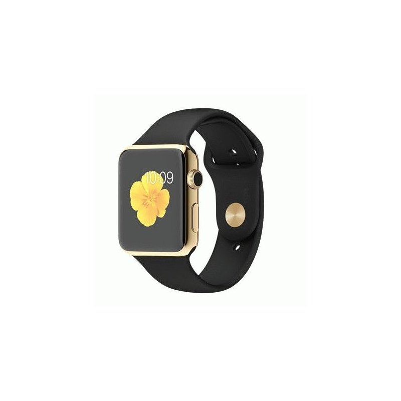 Apple Watch Edition 42mm 18-Karat Yellow Gold Case with Black Sport Band