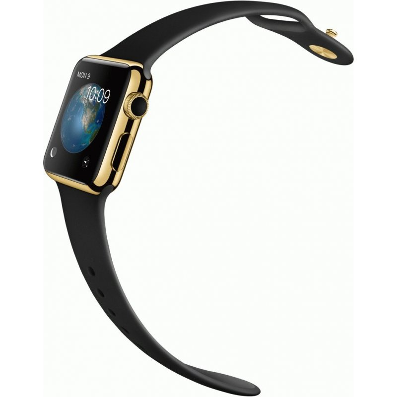 Apple Watch Edition 38mm 18-Karat Yellow Gold Case with Black Sport Band