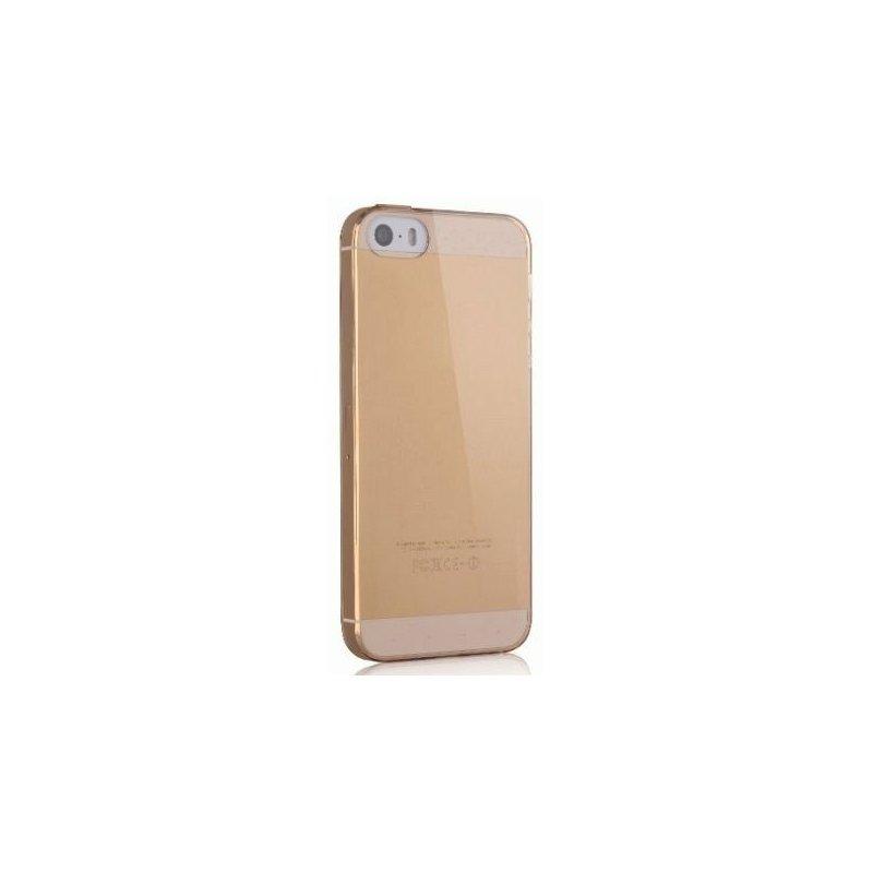 TPU накладка Kuhan для IPhone 5/5S Clear-Gold