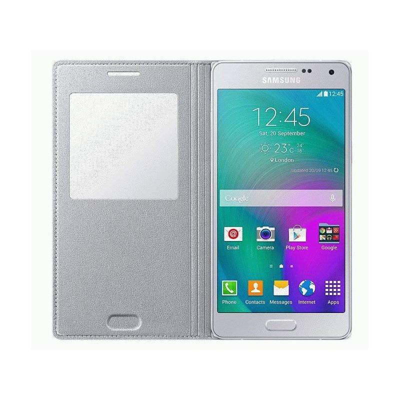 Оригинальный чехол S View для Samsung Galaxy A5 Duos A500H/DS Silver (EF-CA500BSEGRU)